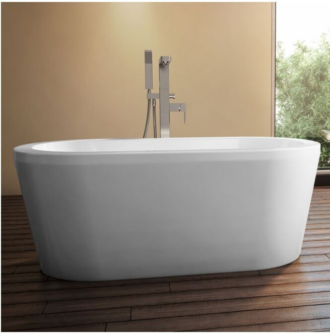 Neptune amaze modern 32x60 oval soaker tub az3260o ebay for Oval garden tub