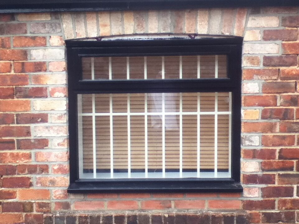 Internal security bar grille fixed window or door grill