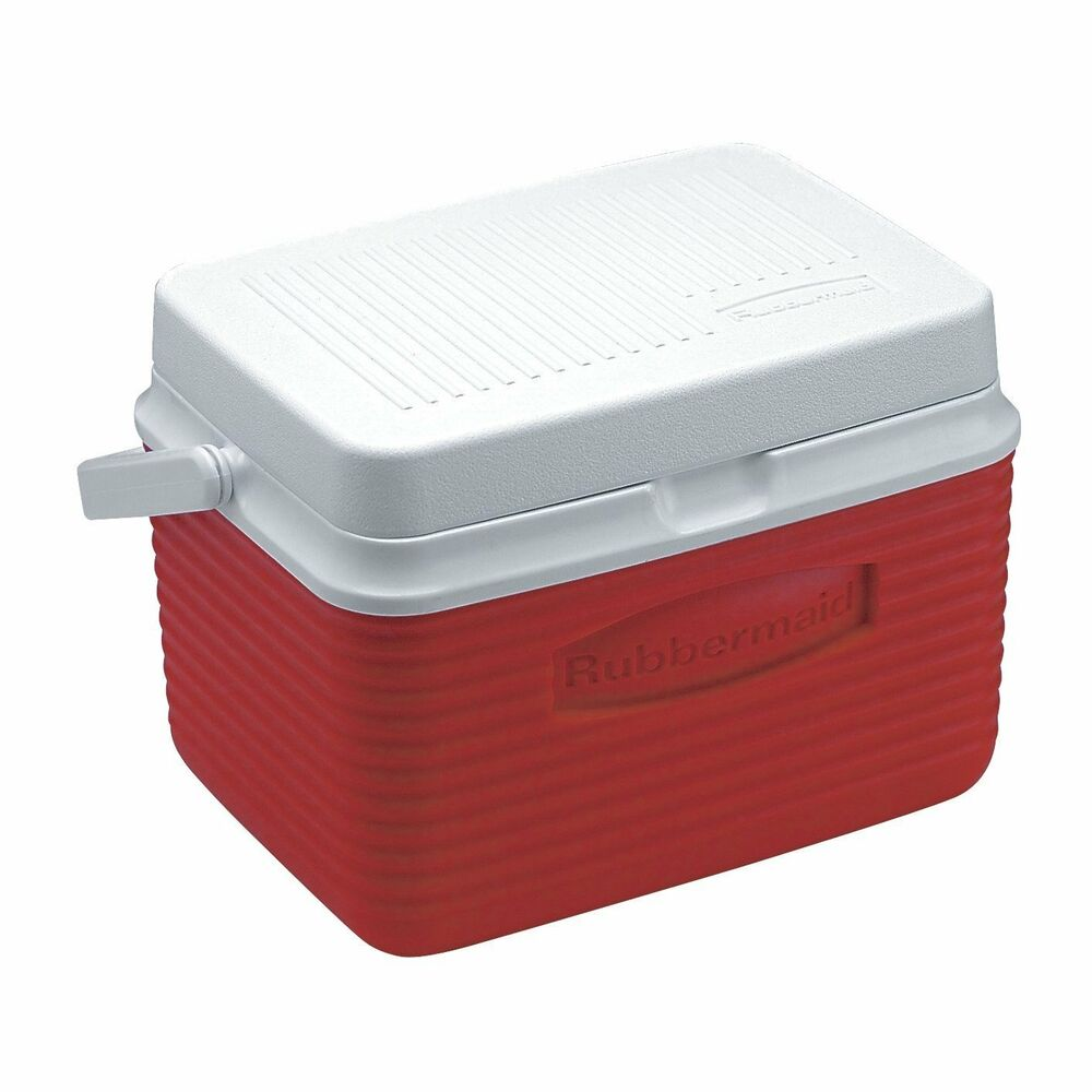 Ice Box Cooler : Rubbermaid cooler ice chest quart red new free