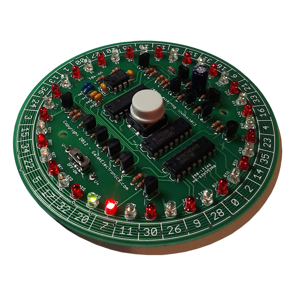 Diy electronic kit roulette wheel dual color leds and for Diy electronic gadgets