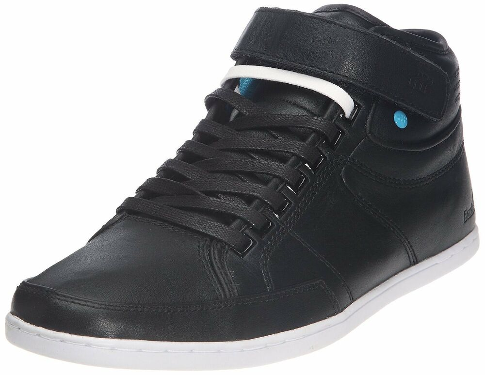 boxfresh swich half cab black new leather mens shoes boots