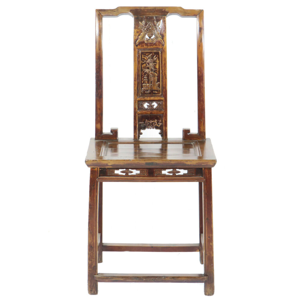 Antique chinese southern officials side chair w fancy
