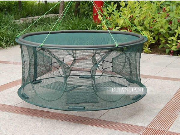 High quality portable foldable fishing trap cast net crab for Homemade fish traps