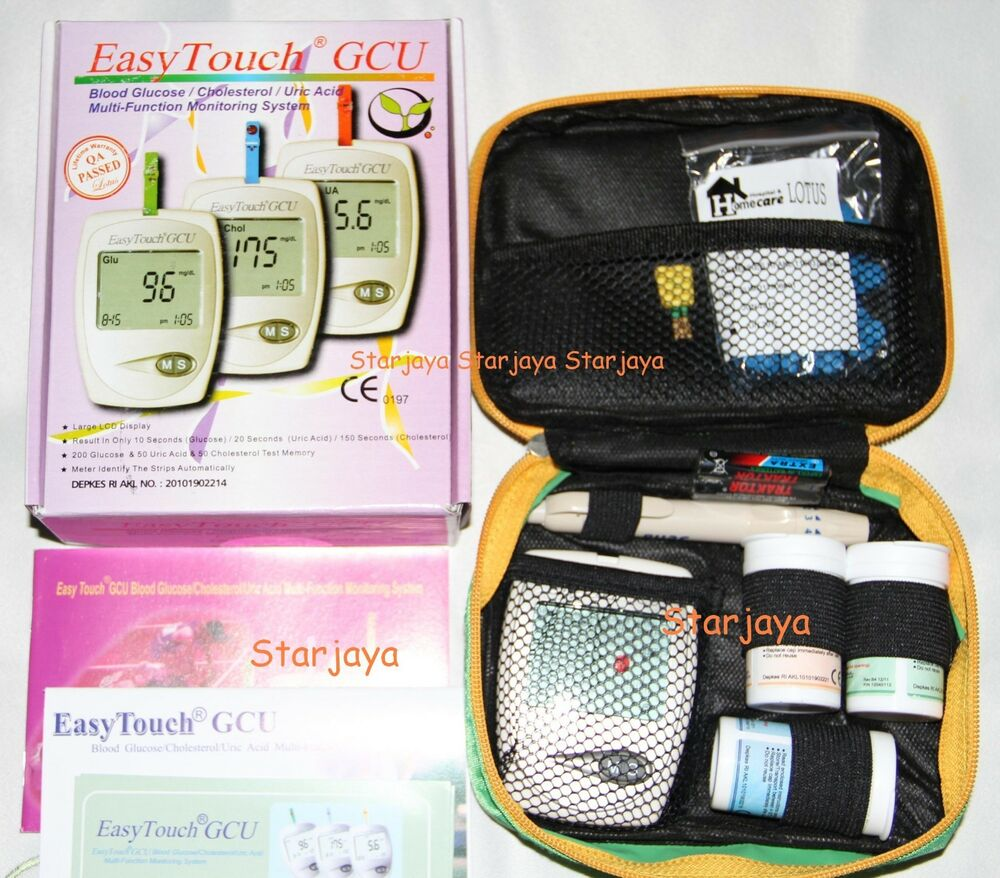 Easytouch For Glucose Uric Acid Amp Cholesterol Meter 3 In