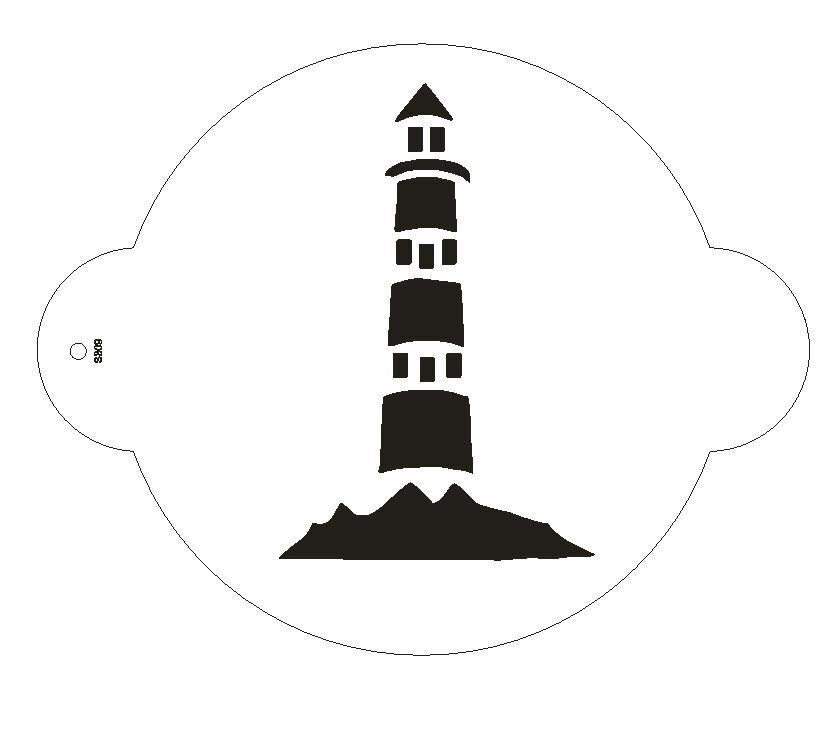 Cake Stencil Designs Free : Light House Stencil for The Designer Stencil for ...
