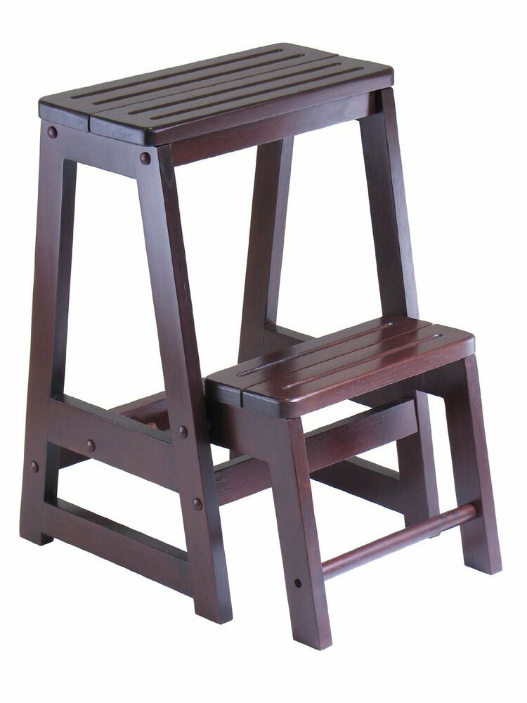 Winsome Wood Step Stool, Antique Walnut , New, Free ...