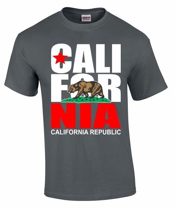 california t shirt california republic state bear flag california tee ebay. Black Bedroom Furniture Sets. Home Design Ideas