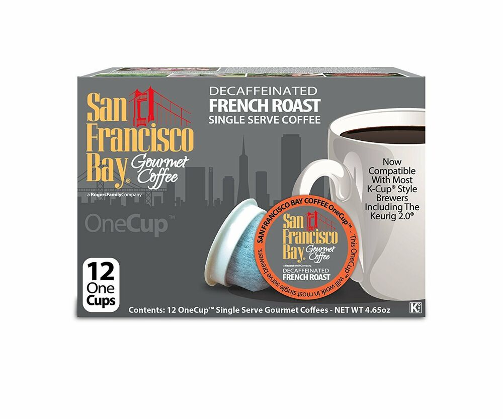 San Francisco Bay Coffee Decaf French Roast 12 Onecup