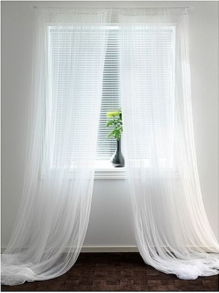 IKEA LILL Sheer Curtains 6 panels(3 packages)--Each panel 110x98 ...