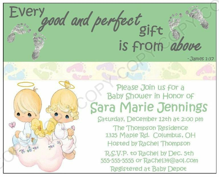 precious moments baby shower invitations 12 pk personalized any color