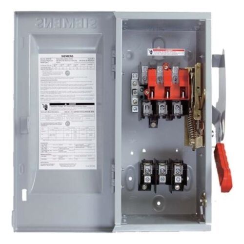 New Siemens Non Fusible Safety Switch 600v 3p 100a