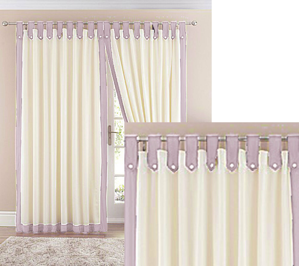 how to make lined tab top curtains uk