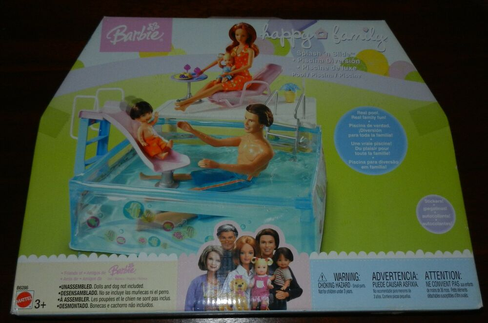 Happy Family Swim Splash N Slide Pool Barbie Midge Nikki Ryan Alan Playset Nrfp Ebay