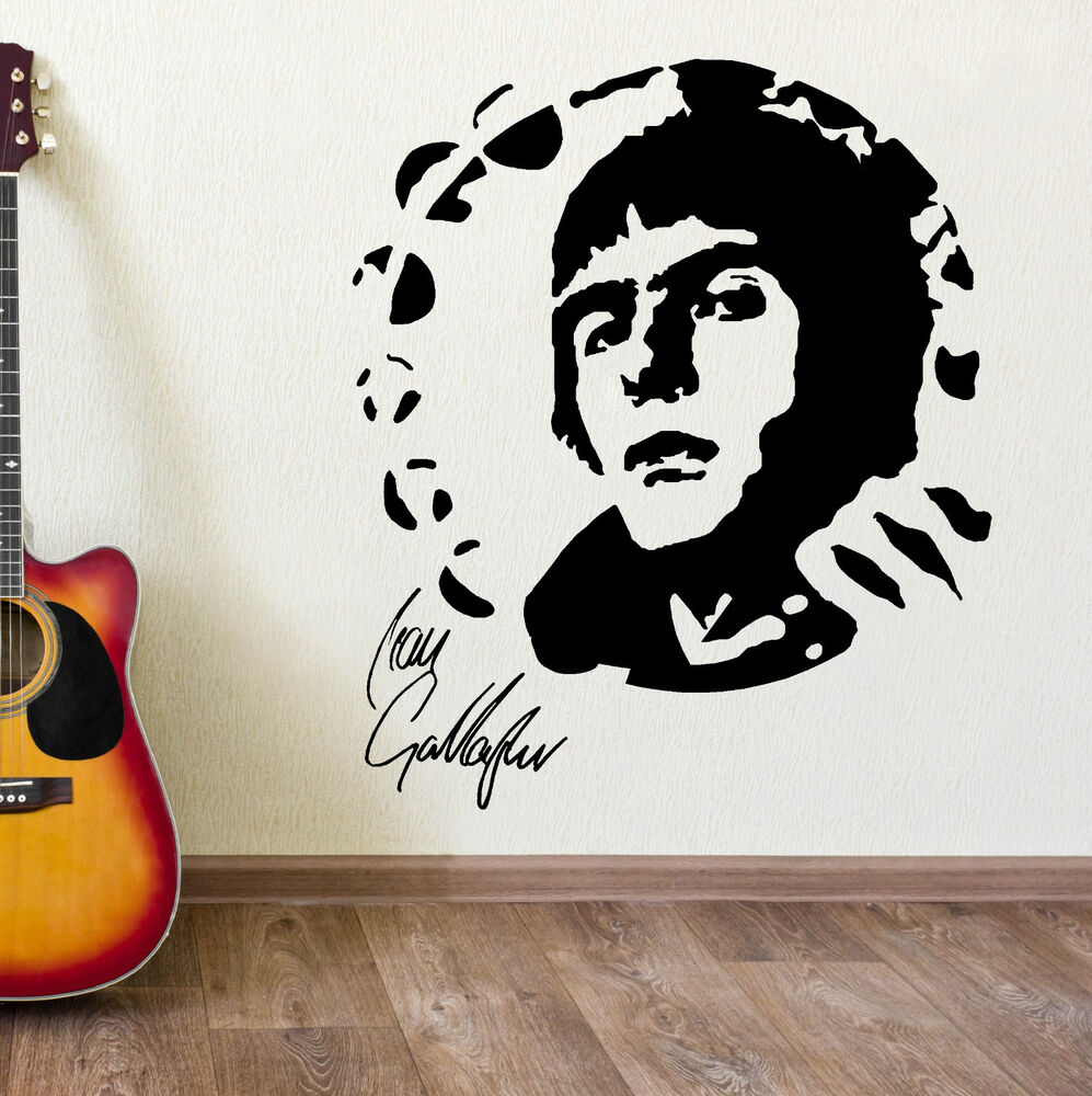 Liam Gallagher Oasis Portrait Vinyl Wall Art Sticker Mural