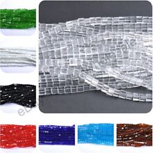Wholesale Cube Square Czech GLASS Crystal Beads Loose Spacer Beads 4MM 6MM 8MM