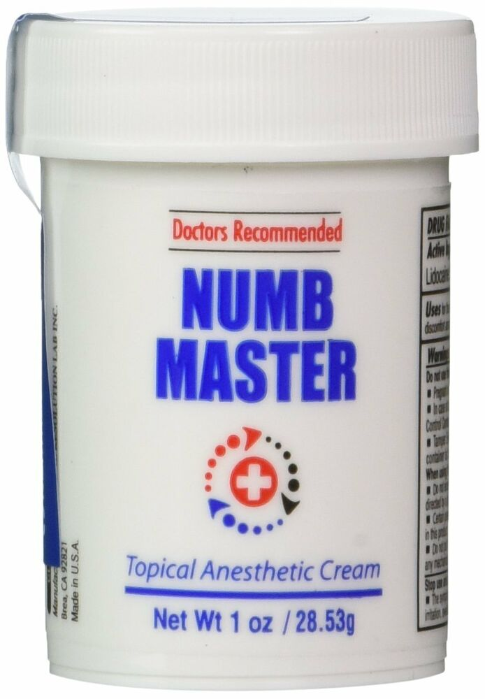 1 oz numb master 5 lidocaine fast penetration water for Lidocaine for tattoos