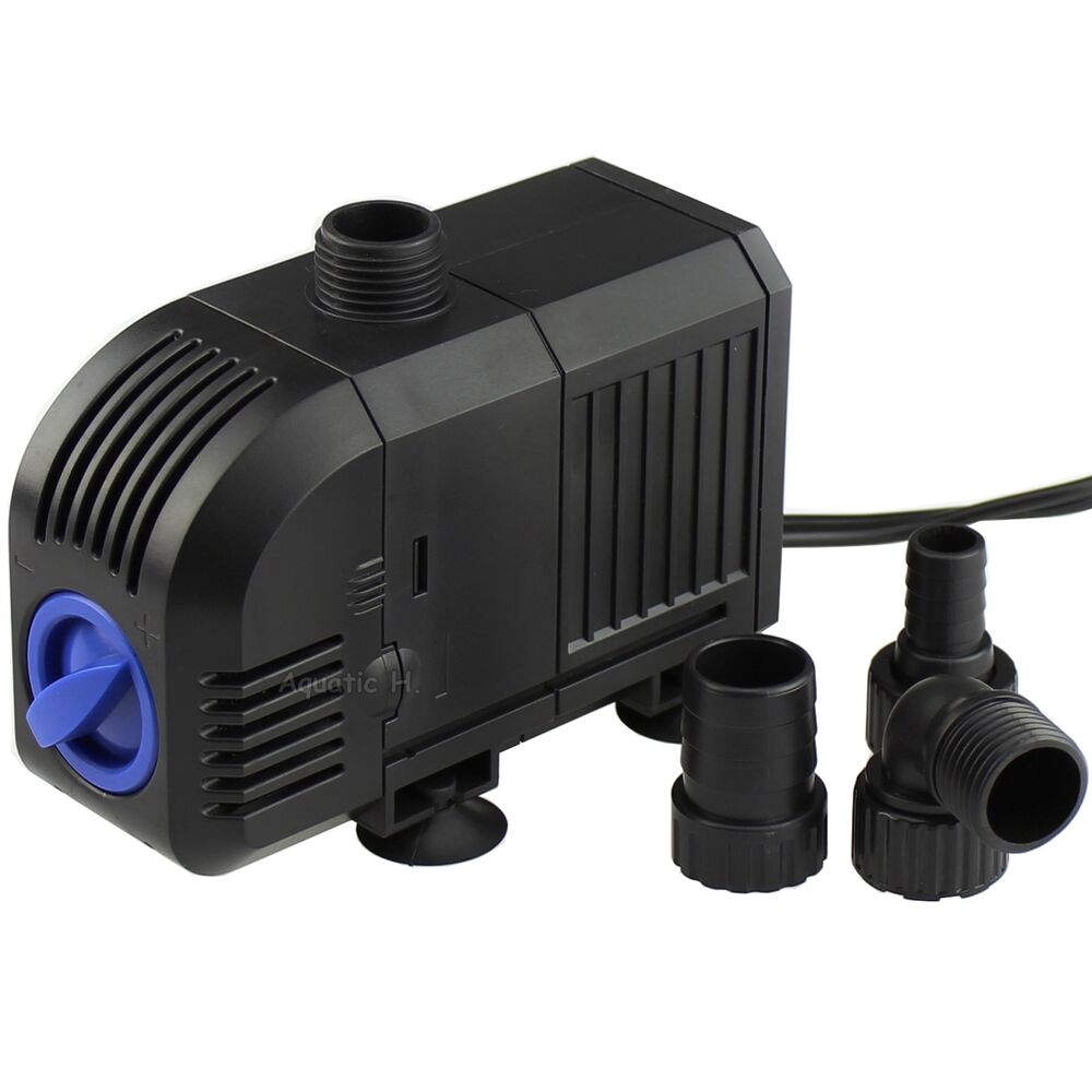 400 gph aquarium fish submersible water pump tank for Fish tank water pump
