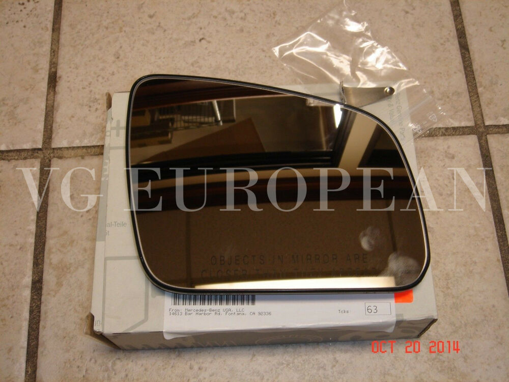 mercedes benz c class genuine right side mirror glass new