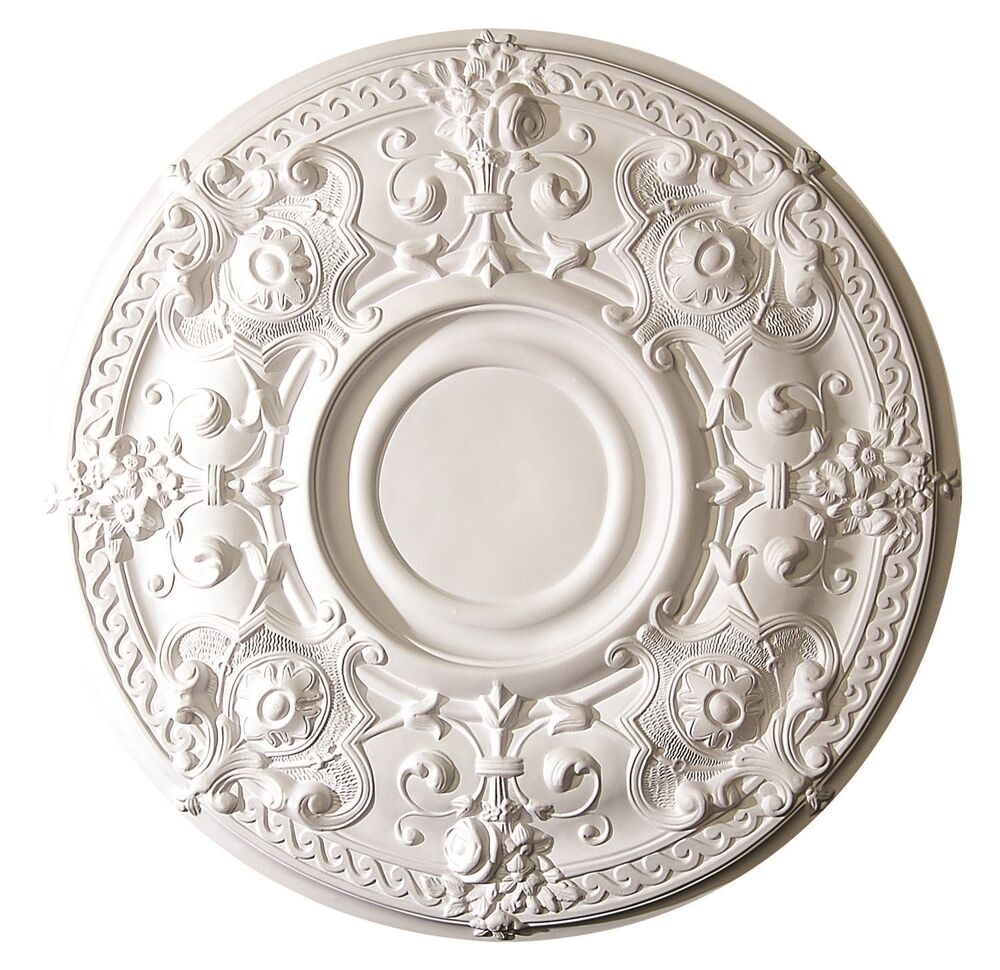 Ceiling Medallion Scallop 28 Inch Primed White D570