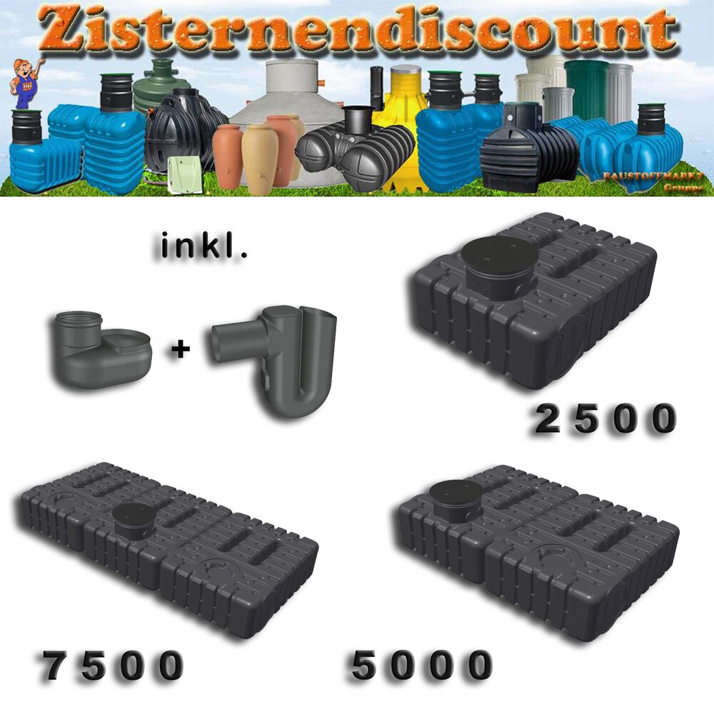 zisterne ft 70 flachspeicher erdtank regenwasser kunststoff flachtank starter ebay. Black Bedroom Furniture Sets. Home Design Ideas