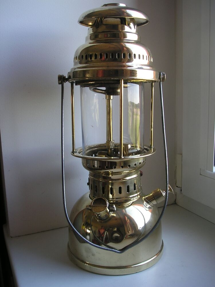 Antique German Kerosene Lantern Gas Lamp Quot Petromax Rapid