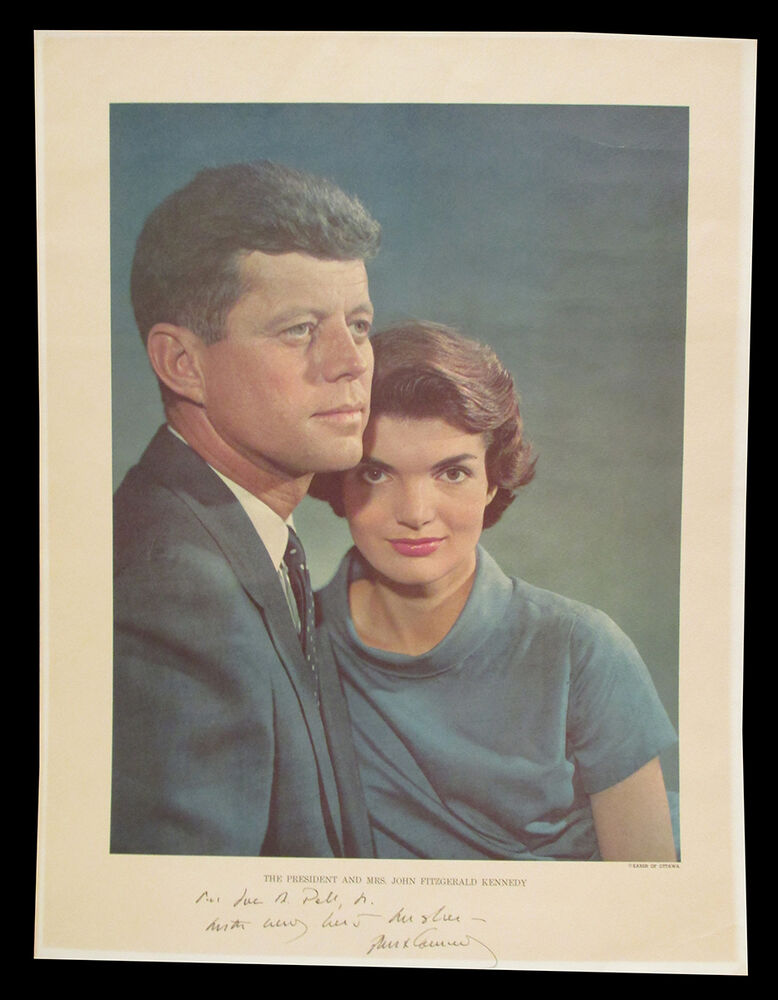 John And Jackie Kennedy: Jacqueline And John F. Kennedy Inscirbed Photo By Yousuf