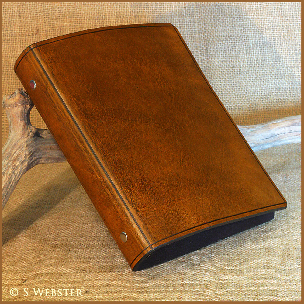 A5 BROWN LEATHER 6 RING BINDER, FILOFAX COMPATIBLE