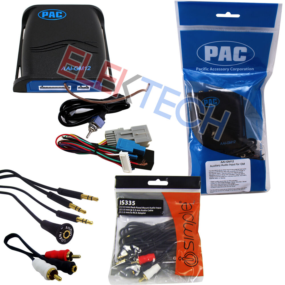 car audio auxiliary input adapter interface unit aux rca cable extender for gm ebay