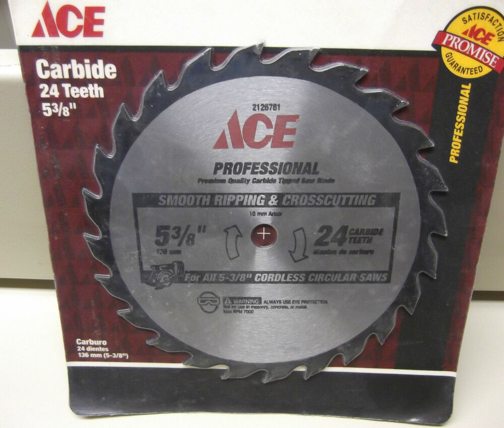 Ace Professional 5 3 8 Quot Carbide Tip Saw Blade 24 Teeth