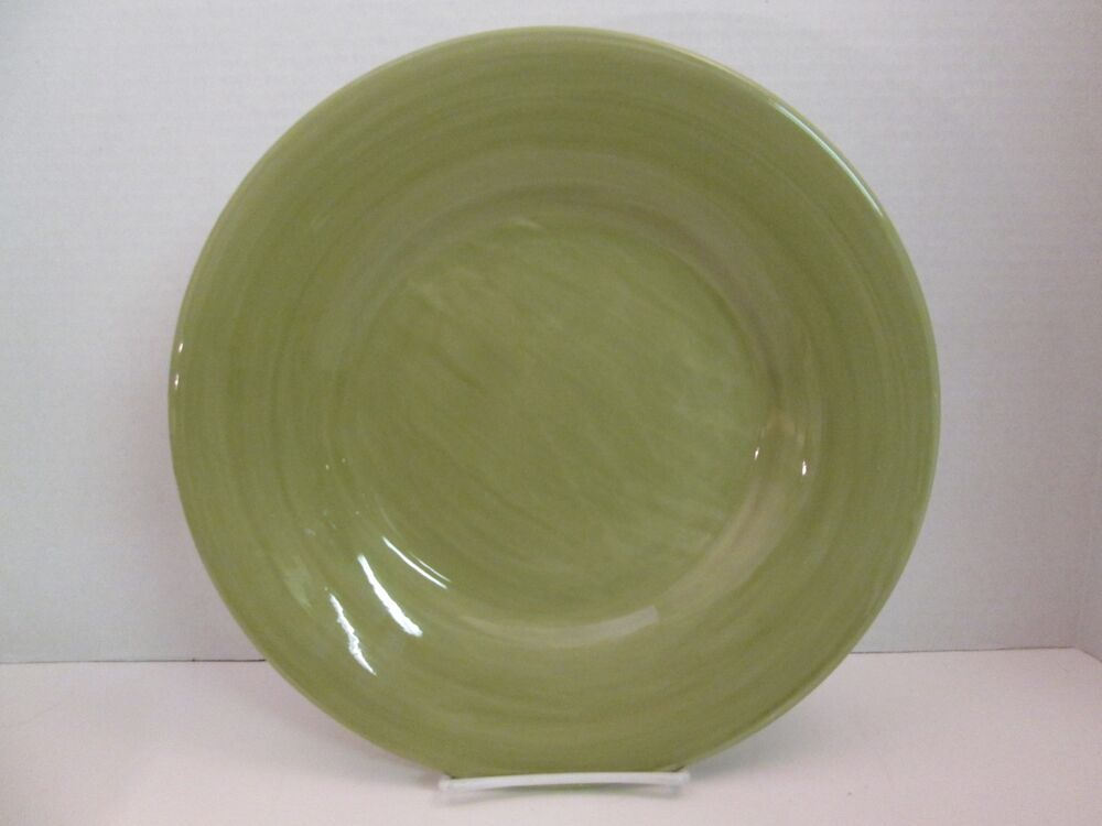 Pottery Barn Sausalito Celery Green Dinner Plate