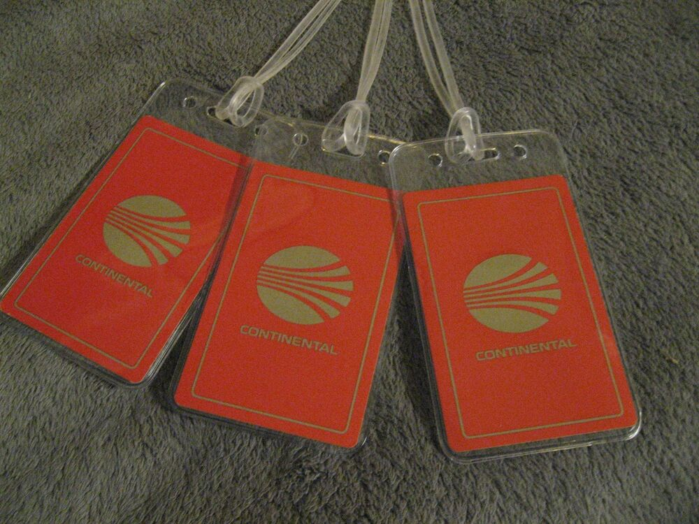 Luggage Tags: Continental Airlines CO CAL Vintage Playing Card Luggage