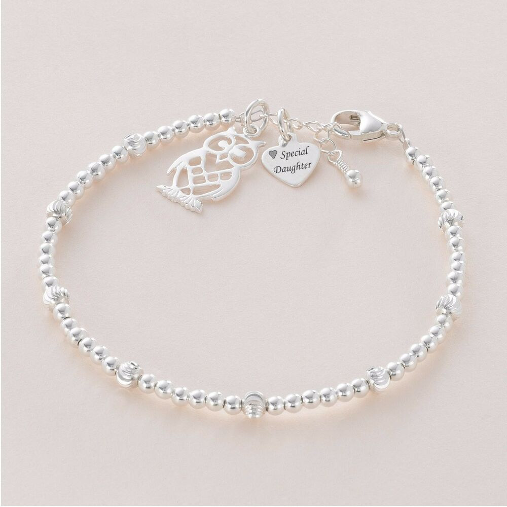 sterling silver bead bracelet with engraved silver tag and. Black Bedroom Furniture Sets. Home Design Ideas