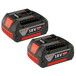 Bosch BAT620-2PK 18V Li-Ion 4.0 Ah Battery with Digital Fuel Gauge (2-Pack)