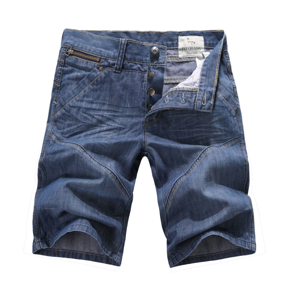 new mens foxjeans denim men 39 s blue jeans shorts size 32 34 36 38 40 42 44 ebay. Black Bedroom Furniture Sets. Home Design Ideas