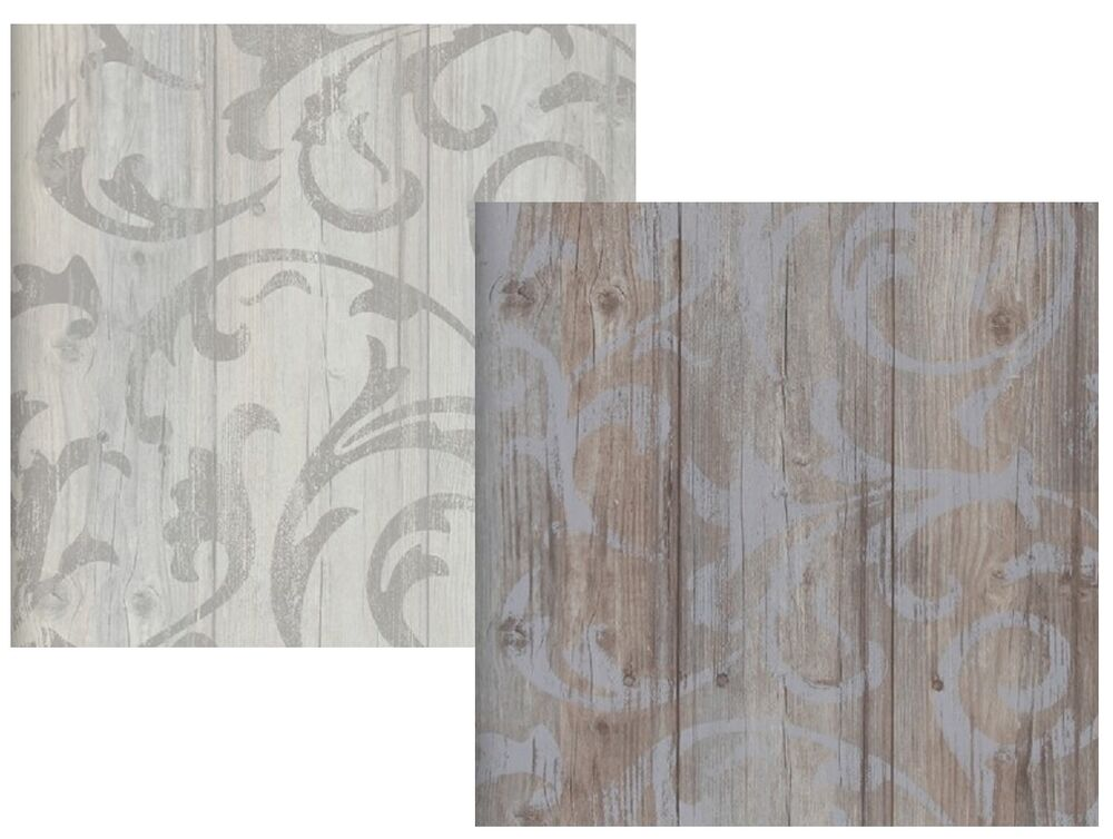Vlies tapete antik holz rustikal ornament muster barock for Muster tapete wohnzimmer