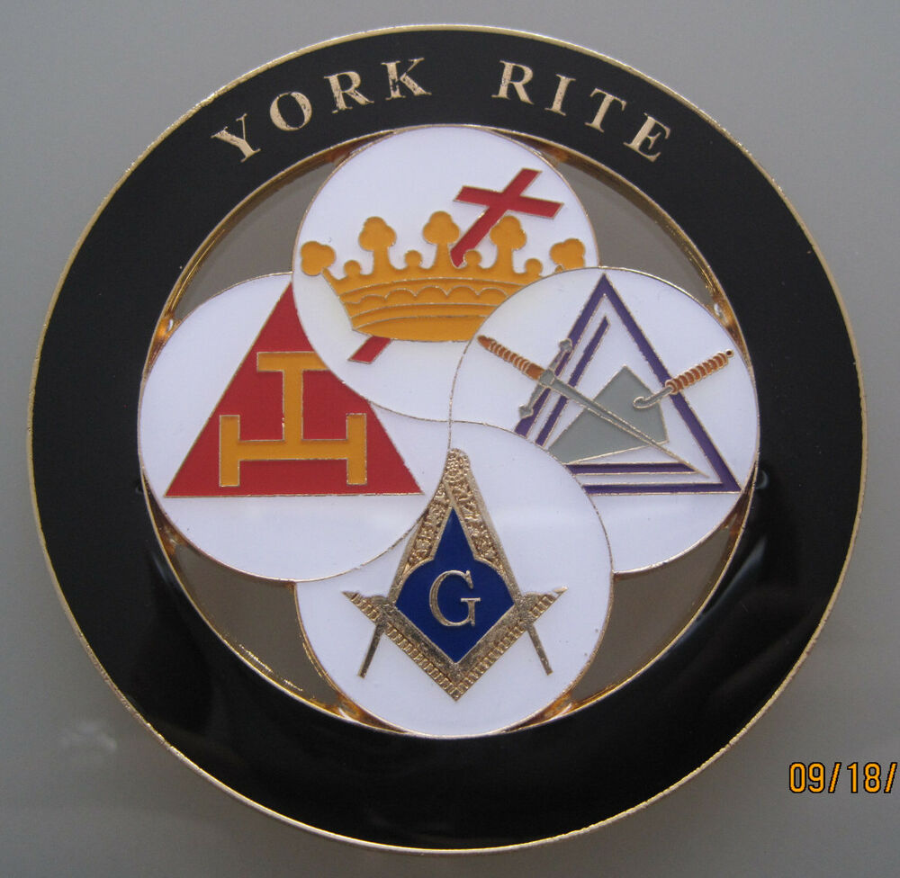 york rite masonic cut out car auto emblem ebay. Black Bedroom Furniture Sets. Home Design Ideas