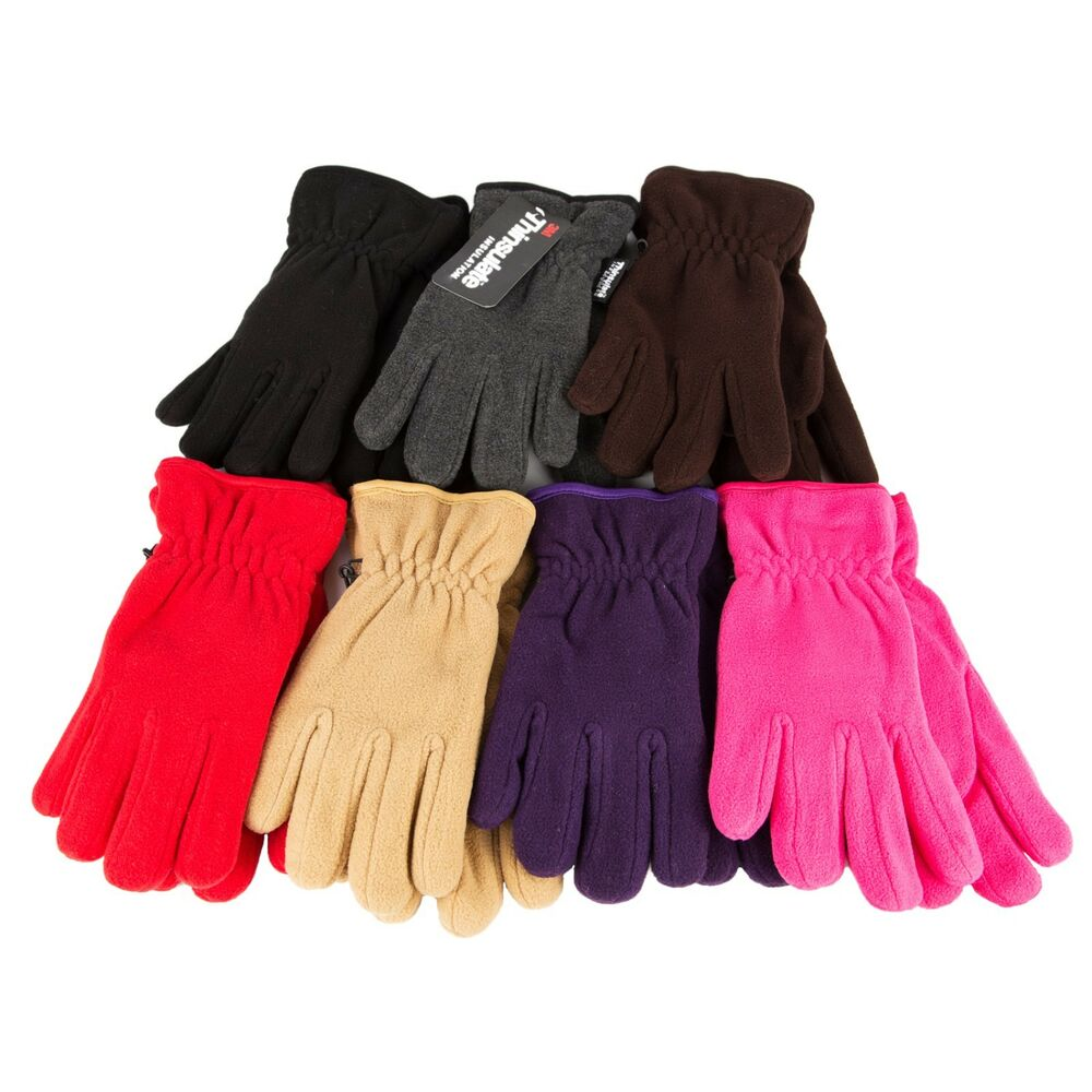 Winter Motorcycle Gloves >> NEW 3M Thinsulate Unisex Thermal Insulation Fleece Winter Gloves Men Women Warm | eBay