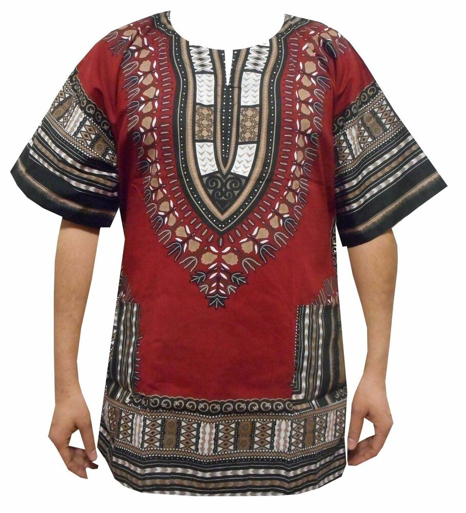 Dashiki Shirts African Dresses Men Women Hippie Mexican ...