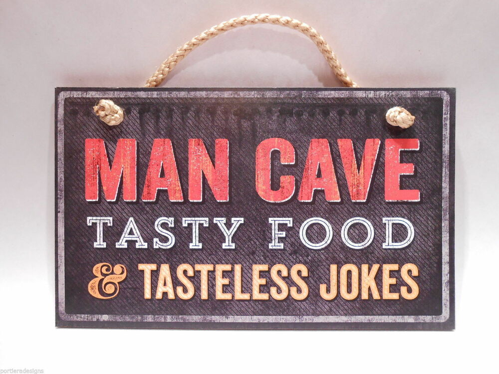 retro wooden sign wall plaque man cave tasty food tasteless jokes ebay. Black Bedroom Furniture Sets. Home Design Ideas