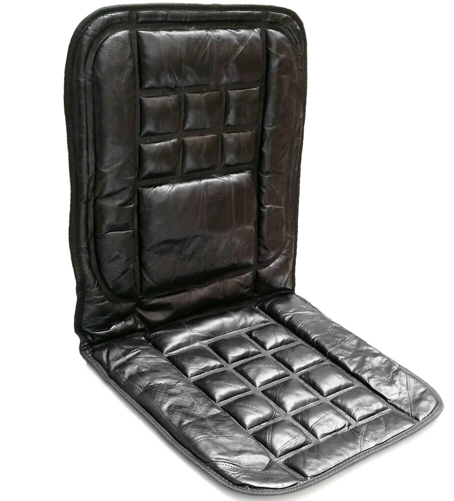 orthopaedic leather car front seat cover protector back support massage cushion ebay. Black Bedroom Furniture Sets. Home Design Ideas