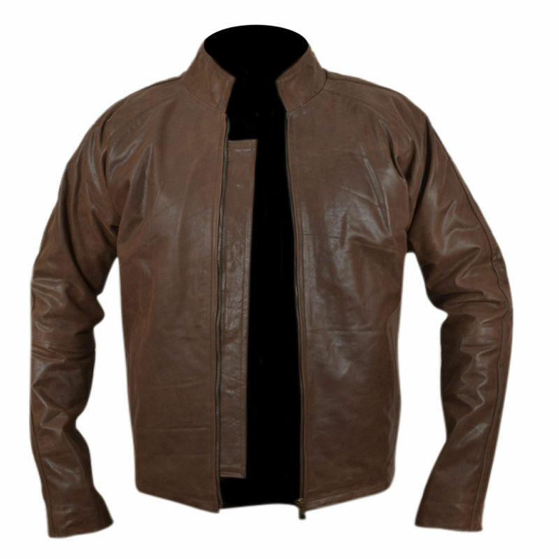 """New Hot """"Jack Reacher"""" Brown Cow Hide Leather Jacket"""