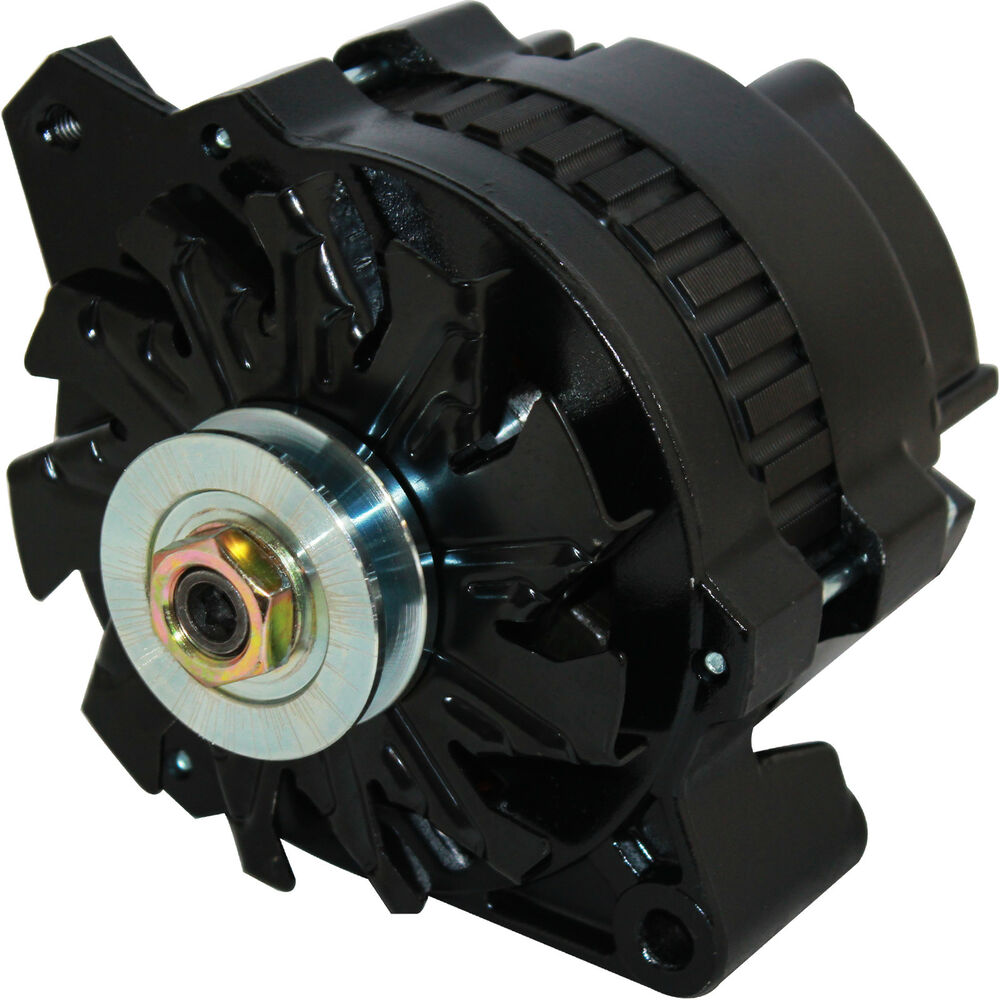 New Black High Output Alternator Fits Chevy 170 Amp 1