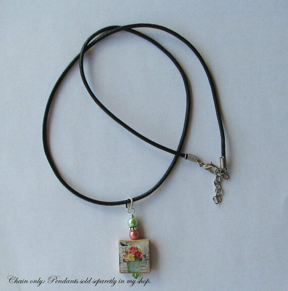 leather necklace cord for charms pendants your choice