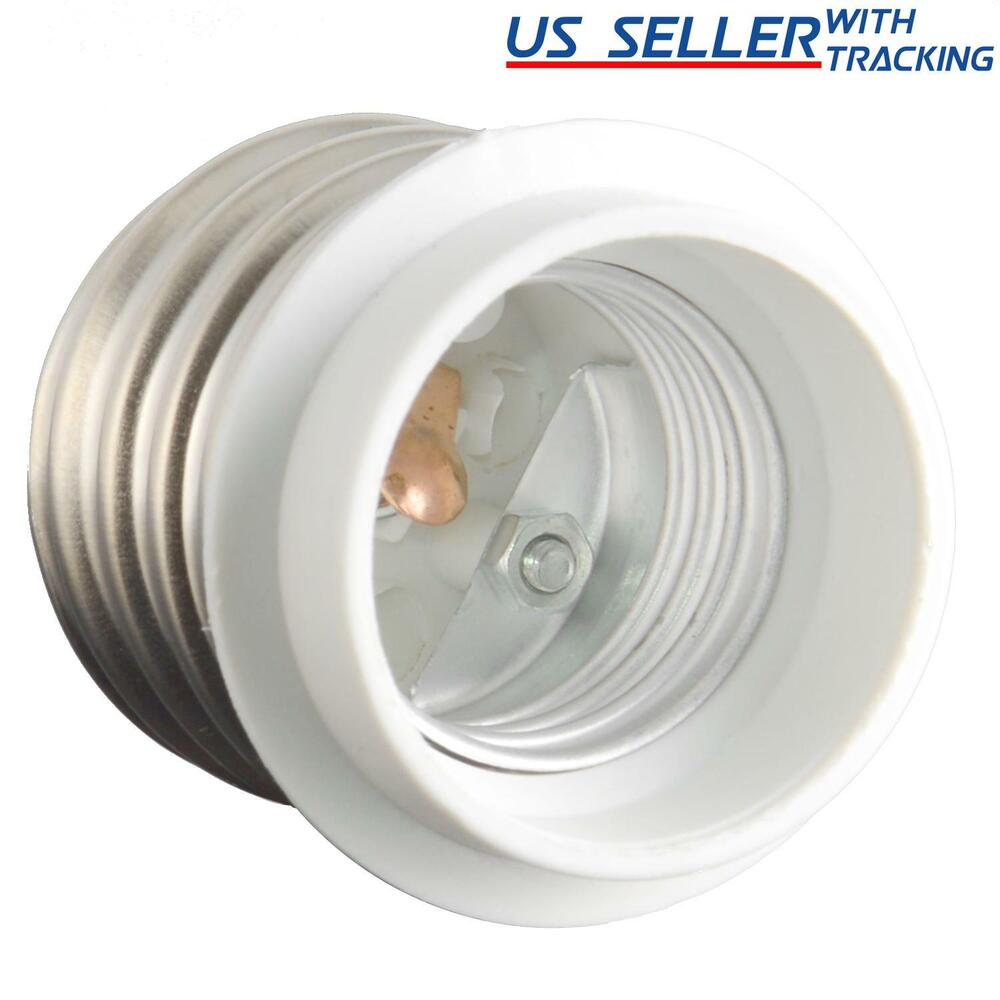 light bulb socket adapter mogul base e39 to medium e26 screw reducer