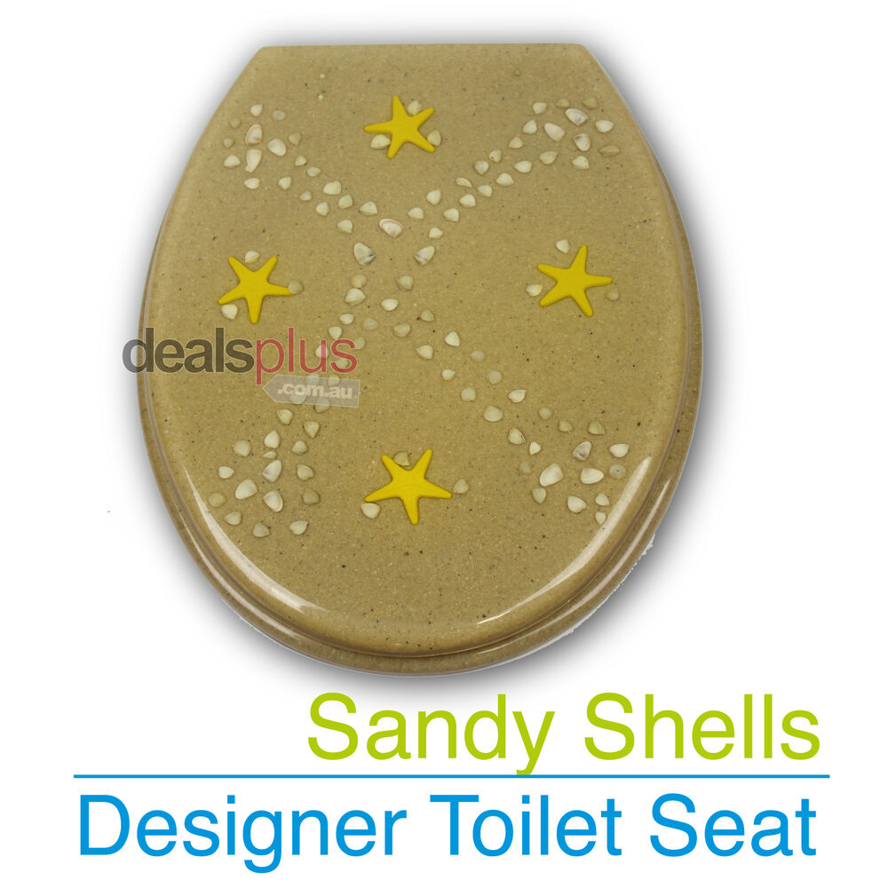 SANDY SHELLS Designer Toilet Seat And Cover Poly Resin Finish Brand New EBay