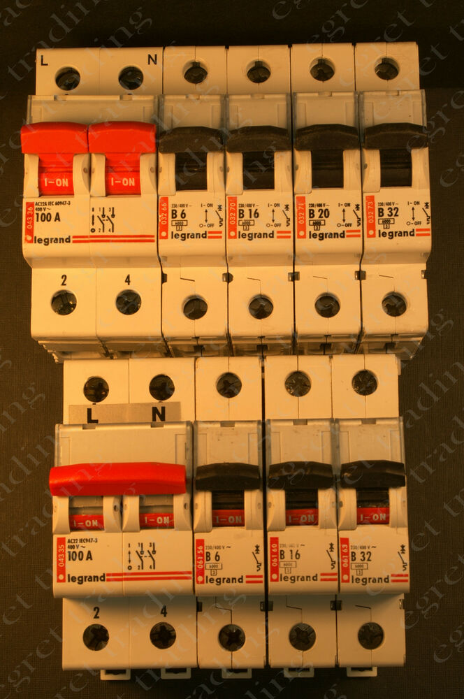 Legrand 032 061 And 068 Series Mcb Circuit Breakers And