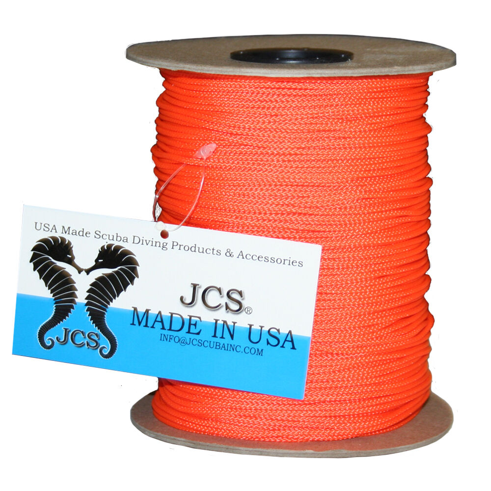 Jcs 24 braided polyester dacron reel line orange spool for Dacron fishing line