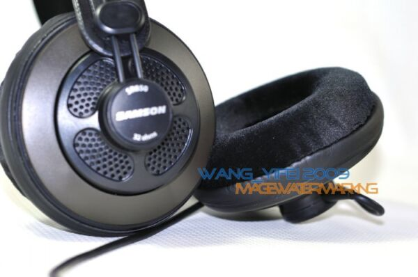 Velour Velvet Ear Pads Cushion For SAMSON SR950 SR850 Pro Studio Headphones