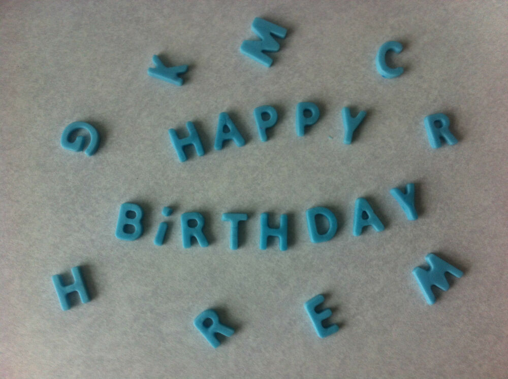 Cake Decorations Letters Uk : Edible letters cupcake cake toppers, decorations, wedding ...