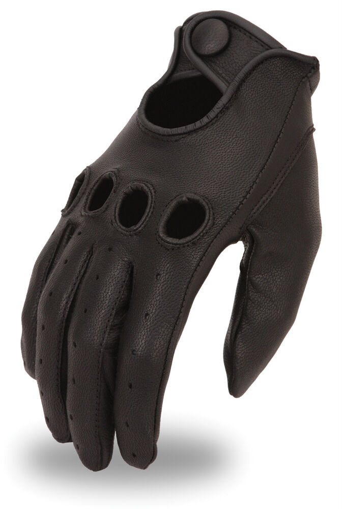 Men 39 S Professional Style Driving Glove W Snap Wrist